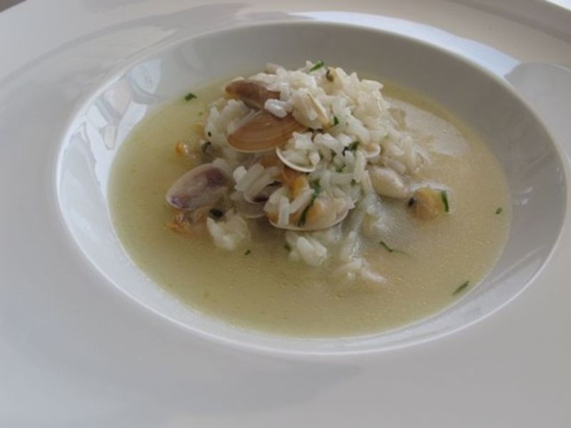 Sopa de Conquilhas com arroz